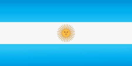 Argentina national flag with official colors. Foto de archivo - 143001712