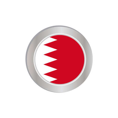 The Bahrain flag is horizontally isolated in official colors, map pins, like the original 向量圖像