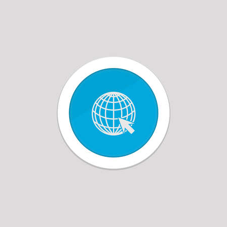web icons with the concept of a globe and arrow cursor on a white background. vector illustration elements