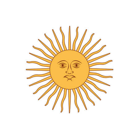 The symbol of the country of Argentina is isolated with a white background