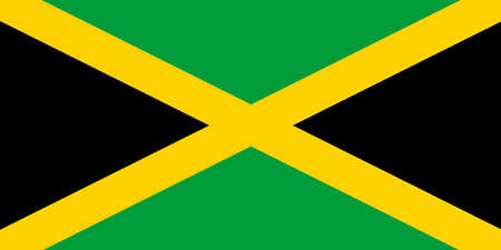 Jamaicas national flag with official colors. 向量圖像