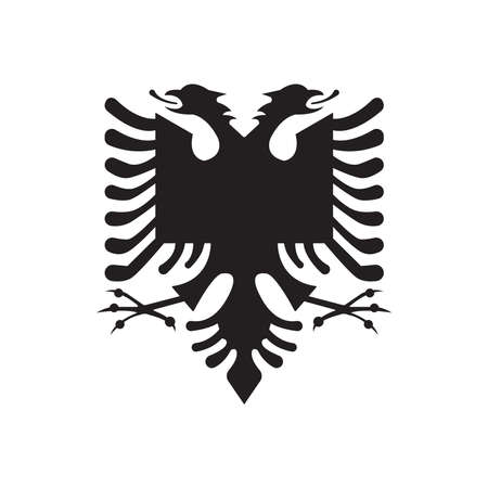 The simple coat of arms of Albania is isolated on a white background Vektorové ilustrace