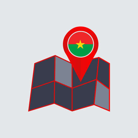 map of burkina faso with country flags