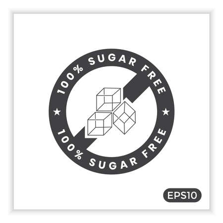 Sugar free icons, can be used to label your product
