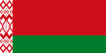 Belarusian flag with official colors.