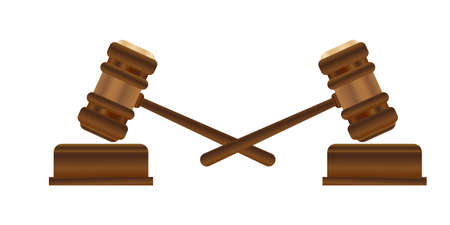 Lawyer gavel law firm icons