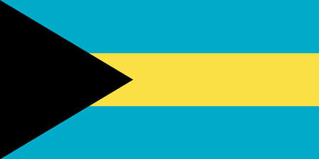 Bahamas national flag with official colors.
