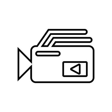 Video camera icon with a white background