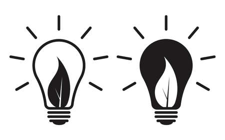 Eco-friendly light bulb icon can be used for applications or websites Ilustração