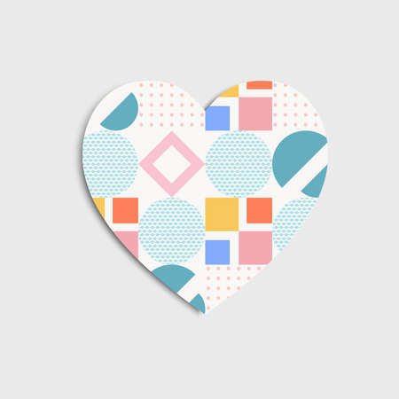 heart icons isolated with memphis style can be used for applications or websites