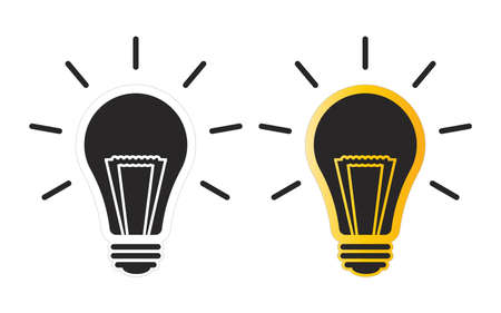 light bulb icon can be used for applications or websites Ilustração