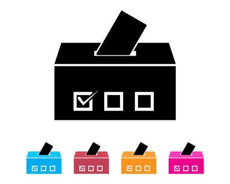 Ballot box icon for app or website