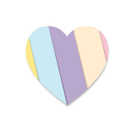 heart icons isolated with pastel paper style can be used for applications or websites Illusztráció