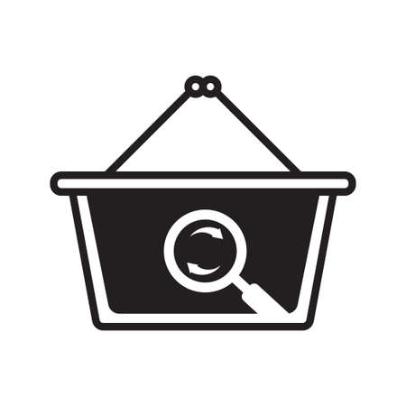 Search icon with a white background, perfect for shopping product search icons.