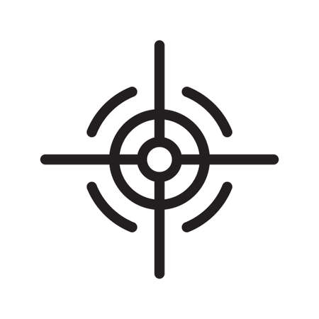 Target icon in vector shape with a white background Ilustração