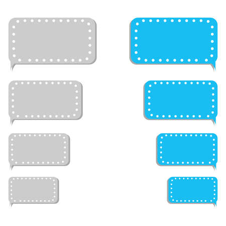 Empty bubble message template for smartphones