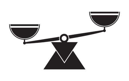 Libra scale balance symbol icons.