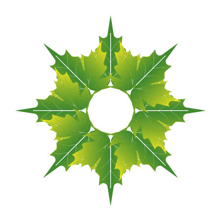 green leaf icon for the application or website