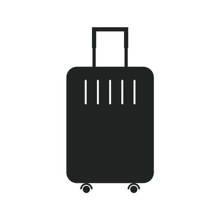 travel bag icon for the application or website. Suitcase shape.