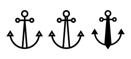 Ship anchor icon. Boat anchor flat symbol for apps and websites