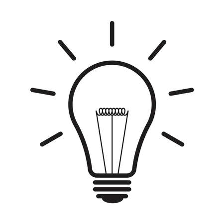 light bulb icon can be used for applications or websites  イラスト・ベクター素材