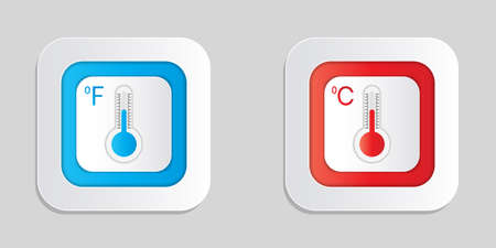 Thermometer icon in vector shape isolated on a white background
