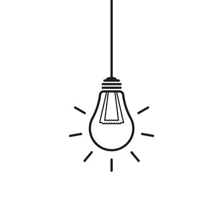 hanging light bulb icon can be used for applications or websites  イラスト・ベクター素材