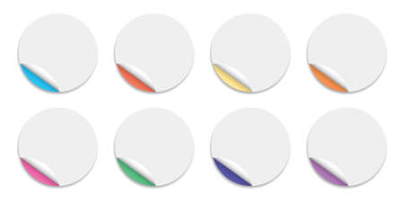 Editable Blank circle label stickers for Social Media Sale banner.  イラスト・ベクター素材