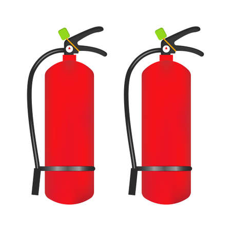 Fire extinguisher icon is isolated on a white background. Vector illustration element Vector Illustration