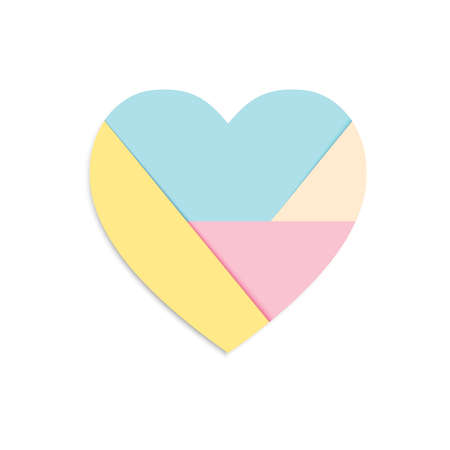heart icons isolated with pastel paper style can be used for applications or websites Ilustração