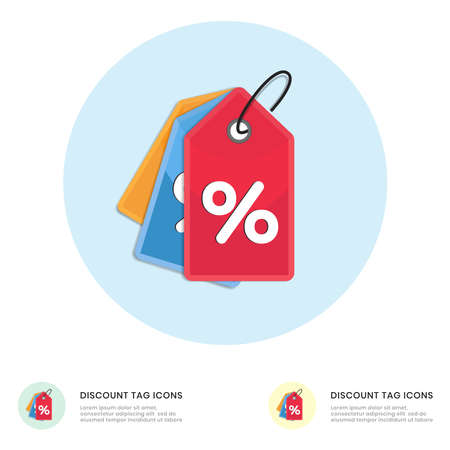 Discount offer tag icon. Shopping coupon percentage symbol.  イラスト・ベクター素材