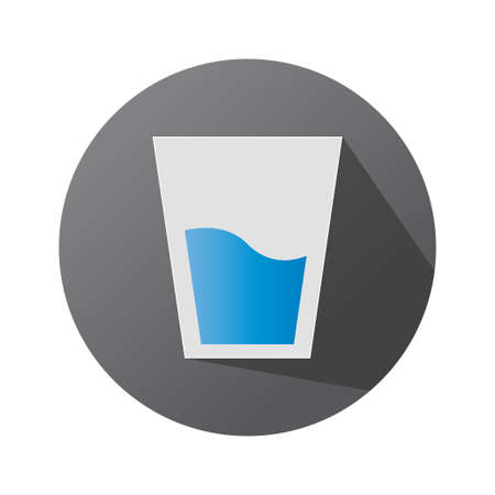 glass icon on a dark background, glassware symbol, vector illustration element