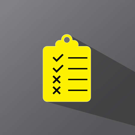 clipboard checklist icon for documents with check marks