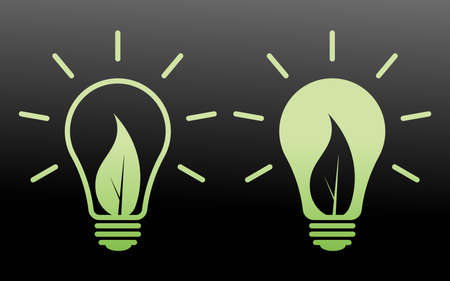 Eco-friendly light bulb icon can be used for applications or websites  イラスト・ベクター素材