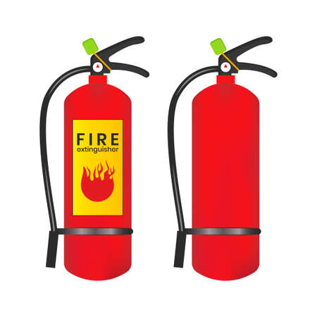 Fire extinguisher icon is isolated on a white background. Vector illustration element