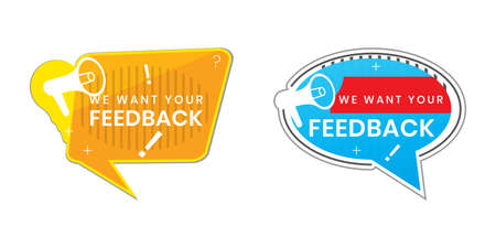 We want your feedback in the text. can be used to stamp Customer Service Reviews.