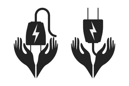 Energy saving icon in vector form with a white background Ilustracja