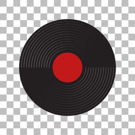 gramophone recordings with a white background Vektorgrafik