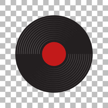gramophone recordings with a white background Illustration