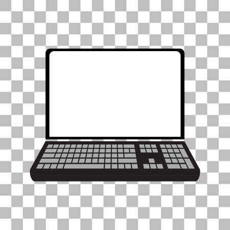 Laptop with a blank screen with a white background. mock-up template design, vector illustration elements. 向量圖像