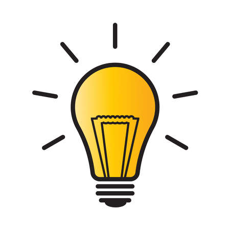 light bulb icon can be used for applications or websites