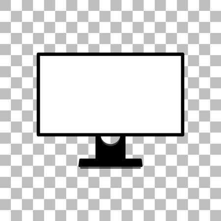 Monitor with a blank screen with a white background. mock-up template design, vector illustration elements. 向量圖像