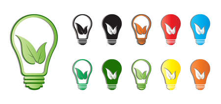 Eco-friendly light bulb icon can be used for applications or websites Ilustracja