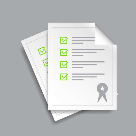Document legality icon on a white background. vector illustration element.