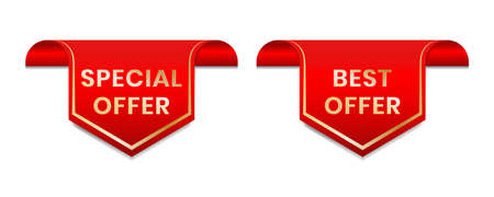 Special offer. Best offer tag label for promotion in social media.  イラスト・ベクター素材