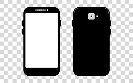 Mobile phone with a blank screen with a white background. mockups template design, vector illustration elements. 向量圖像