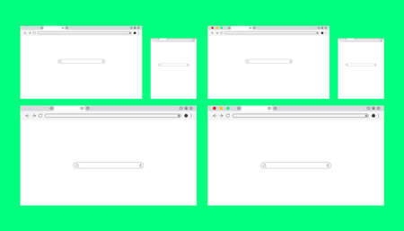 Simple white Web browser window with a green background.  イラスト・ベクター素材