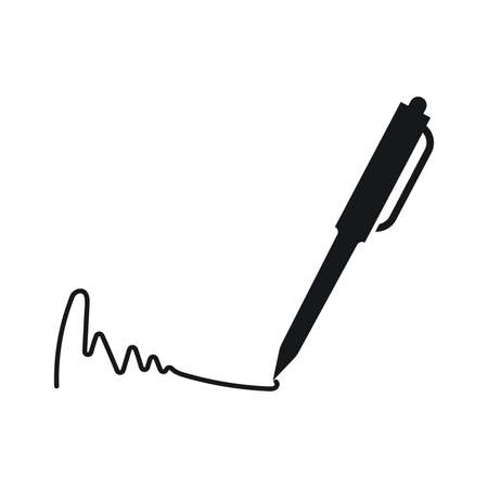 Pen signature icon for apps and websites