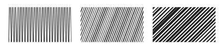 Set Vertical and diagonal lines. Abstract background. Stripes pattern.