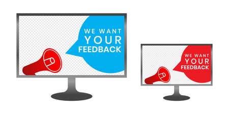 We want your feedback in texts that are isolated by Monitor Computer. can be used to stamp Customer Service Reviews. Imagens - 143138165